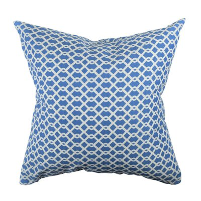 Designer Throw Pillow Size: 18 H x 18 W, Color: Blue
