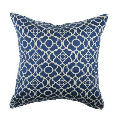 Designer 100% Cotton Throw Pillow Size: 18 H x 18 W, Color: Blue