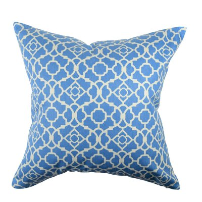 Designer 100% Cotton Throw Pillow Size: 18 H x 18 W, Color: Light Blue