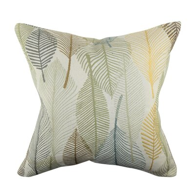 Designer Throw Pillow Size: 18 H x 18 W, Color: Gray