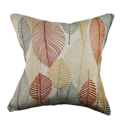 Designer Throw Pillow Size: 18 H x 18 W, Color: Cream