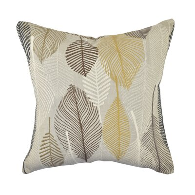 Designer Throw Pillow Size: 18 H x 18 W, Color: Gray/Beige