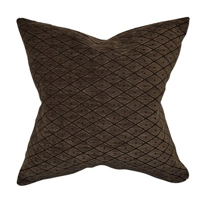 Designer Throw Pillow Size: 20 H x 20 W, Color: Brown