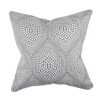 Designer 100% Cotton Throw Pillow Size: 18 H x 18 W, Color: Gray