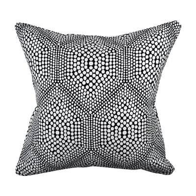Designer 100% Cotton Throw Pillow Size: 18 H x 18 W, Color: Black