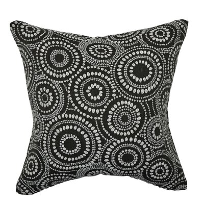 Designer 100% Cotton Throw Pillow Size: 20 H x 20 W, Color: Black