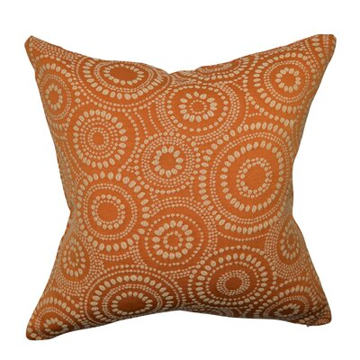 Designer 100% Cotton Throw Pillow Size: 18 H x 18 W, Color: Orange