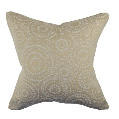 Designer 100% Cotton Throw Pillow Size: 18 H x 18 W, Color: Cream