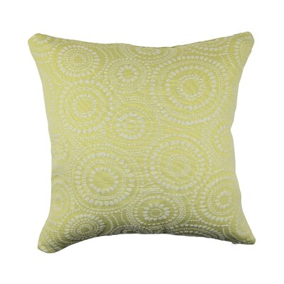 Designer 100% Cotton Throw Pillow Size: 20 H x 20 W, Color: Green