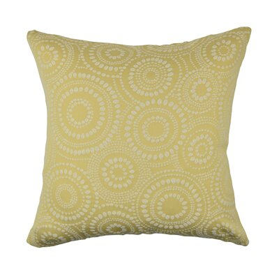 Designer 100% Cotton Throw Pillow Size: 18 H x 18 W, Color: Yellow