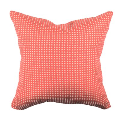 Designer 100% Cotton Throw Pillow Size: 18 H x 18 W, Color: Pink