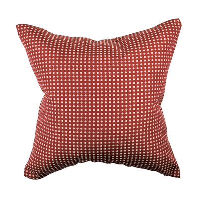 Designer 100% Cotton Throw Pillow Size: 18 H x 18 W, Color: Red