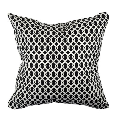 Designer Throw Pillow Size: 18 H x 18 W, Color: Black