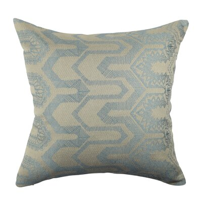 Designer Throw Pillow Size: 18 H x 18 W, Color: Light Blue