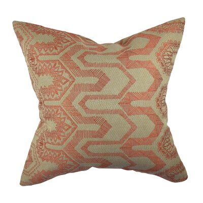 Designer Throw Pillow Size: 20 H x 20 W, Color: Orange