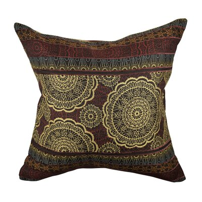 Designer Throw Pillow Size: 18 H x 18 W, Color: Brown