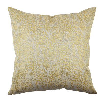 Designer Throw Pillow Size: 18 H x 18 W, Color: Gold