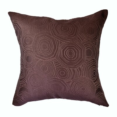 Designer Throw Pillow Size: 18 H x 18 W, Color: Purple
