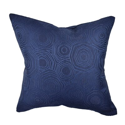 Designer Throw Pillow Size: 20 H x 20 W, Color: Blue