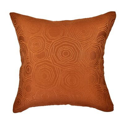 Designer Throw Pillow Size: 18 H x 18 W, Color: Orange