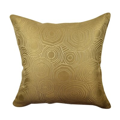 Designer Throw Pillow Size: 20 H x 20 W, Color: Gold