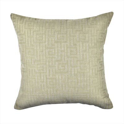 Designer Throw Pillow Size: 18 H x 18 W, Color: Tan