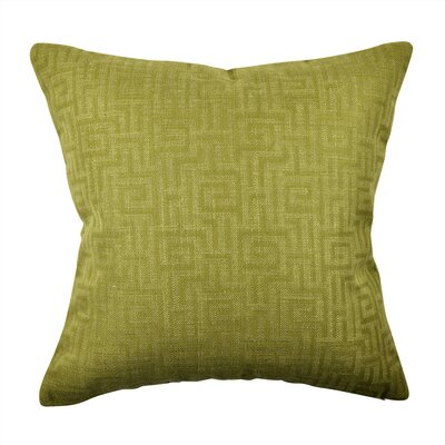 Designer Throw Pillow Size: 18 H x 18 W, Color: Green
