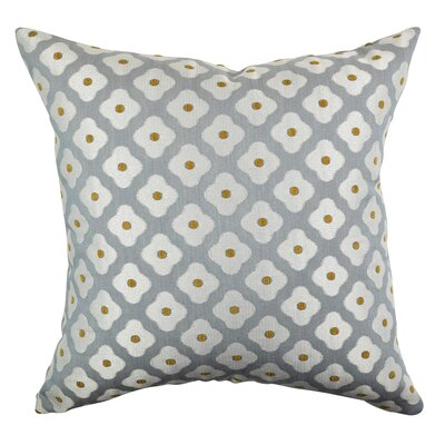 Burrough Simplified Floral 100% Cotton Throw Pillow Size: 18 H x 18 W x 6 D