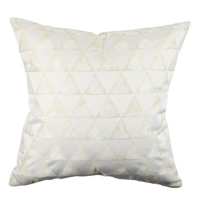 Bella Metallic Geometric Designer Throw Pillow Size: 18 H x 18 W x 6 D