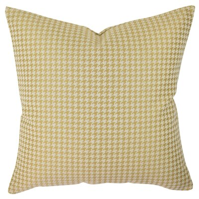 Houndstooth Woven Throw Pillow Size: 20 H x 20 W x 6 D, Color: Gold