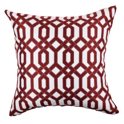 Circle Link Inspired Throw Pillow Size: 18 H x 18 W x 6 D, Color: Red