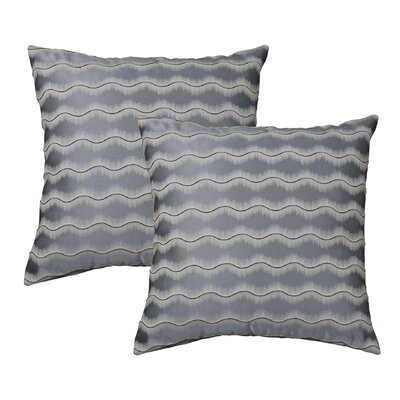 Waves Throw Pillow Color: Blue