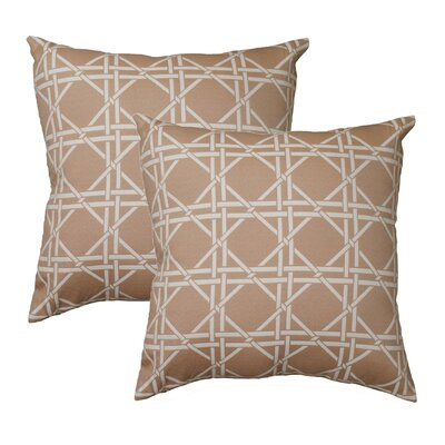 Hampton Throw Pillow Color: Tan