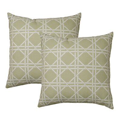 Hampton Throw Pillow Color: Seafoam