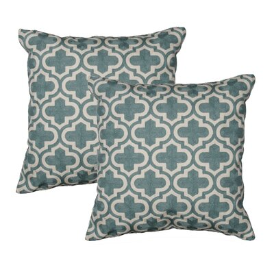 Charleston Throw Pillow Color: Teal