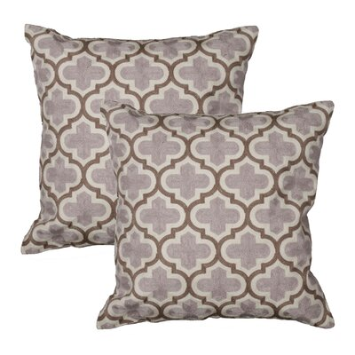 Charleston Throw Pillow Color: Gray
