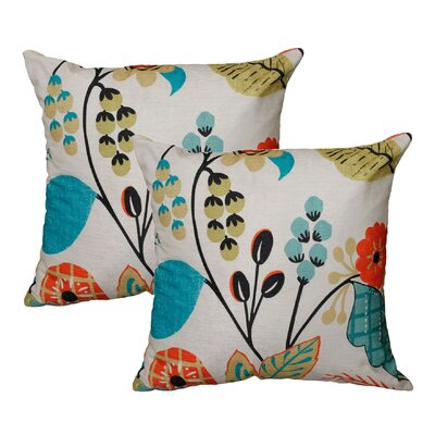 Capri Floral Throw Pillow