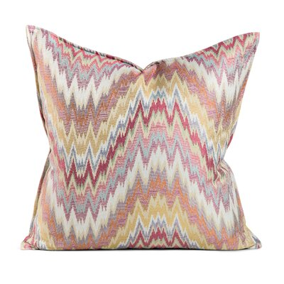 Amenia Ziggy Feather Throw Pillow Size: 20 x 20, Color: Rasberry