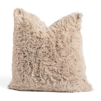 Chateau Throw Pillow Size: 24 x 24, Color: Taupe
