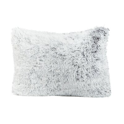 Shag Throw Pillow Size: 14 x 20, Color: Frost