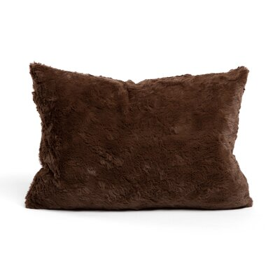 Chateau Luxurious Faux Fur Feather Rectangular Throw Pillow Color: Dark Chocolate