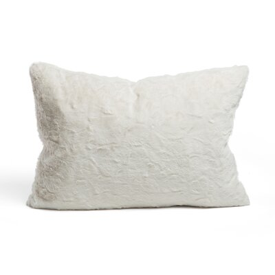 Chateau Luxurious Faux Fur Feather Rectangular Throw Pillow Color: Ivory