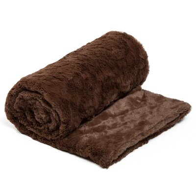 Chateau 3 Piece Blanket Set Color: Dark Chocolate