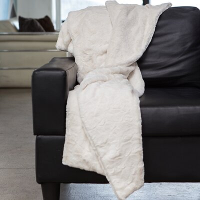 Throw Blanket Color: Ivory