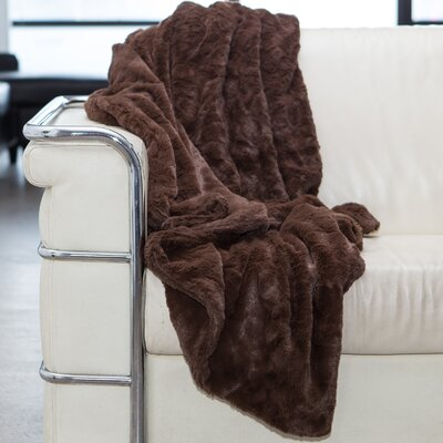 Throw Blanket Color: Dark Chocolate