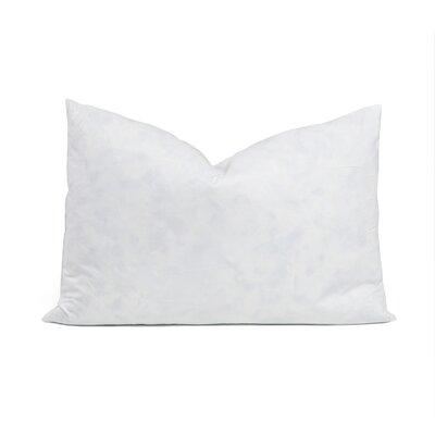 95% Feather 5% Down Rectangular Pillow Insert Size: 15 x 22