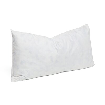 95% Feather 5% Down Rectangular Pillow Insert Size: 15 x 29