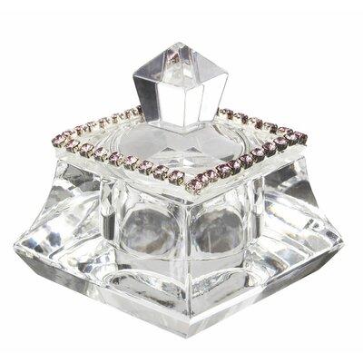 Decorative Italian Crystal Trinket Box With Swarovski