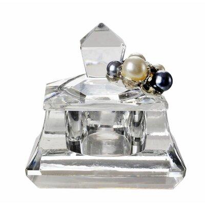 Decorative Crystal And Pearls Trinket Box With Swarovski