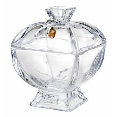Decorative Lead Crystal Trinket Box With Cover And Swarovski